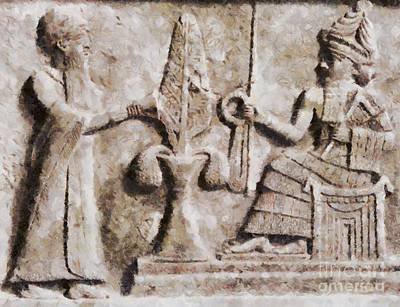 Ancient Mesopotamia Relief By Sarah Kirk Art Print
