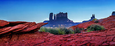 Western Sky Photograph - Ancient Monoliths by Az Jackson