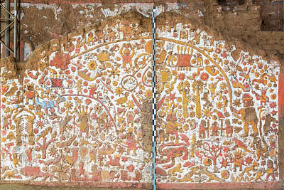Mochica Photograph - Ancient Mural In Peru by Jess Kraft
