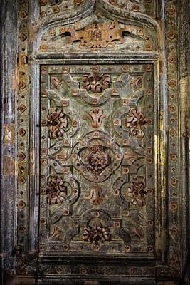 Ancient Ornate Door Of Girona Cathedral Art Print by Artur Bogacki