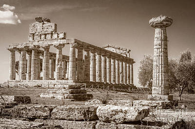 Photograph - Ancient Paestum Architecture by Prints of Italy