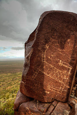 Photograph - Ancient Petroglyph At Three Rivers Petroglyph Site by Alan Vance Ley