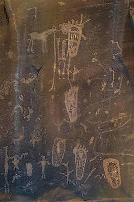 Photograph - Ancient Puebloan Petroglyph Panel by NaturesPix