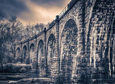 Photograph - Ancient Railroad Bridge by T Brian Jones