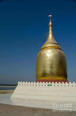 Ancient Riverside Stupa Along The Irrawaddy River In Burma Art Print