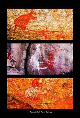 Photograph - Ancient Rock Art - Animals - Nourlangie - Kakadu National Park by Lexa Harpell