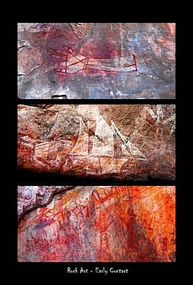 Photograph - Ancient Rock Art - Early Contact - Nanguluwur - Kakadu National Park by Lexa Harpell