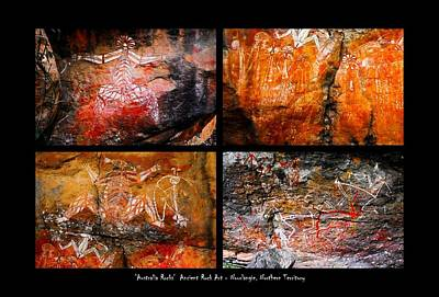 Photograph - Ancient Rock Art  Montage - Kakadu National Park by Lexa Harpell