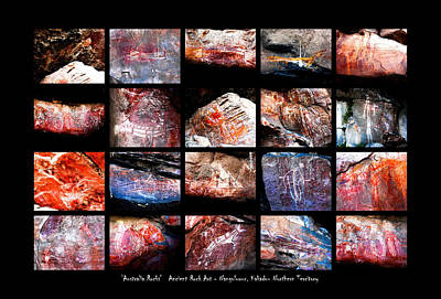 Photograph - Ancient Rock Art - Nourlangie, Kakadu National Park by Lexa Harpell