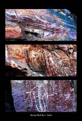 Photograph - Ancient Rock Art - Spirits - Nourlangie - Kakadu National Park by Lexa Harpell