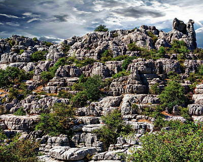 Photograph - Ancient Rock Formations by Anthony Dezenzio