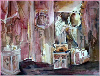 Ancient Roman Forum Interior Original by Mindy Newman