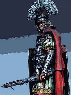 Painting - Ancient Roman Soldier by Andrea Mazzocchetti