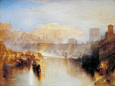 Architectural Painting - Ancient Rome - Agrippina Landing With The Ashes Of Germanicus by JMW Turner