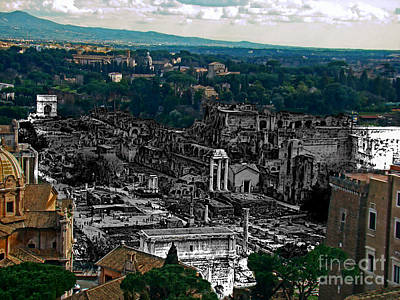 Photograph - Ancient Rome, Italy II by Al Bourassa