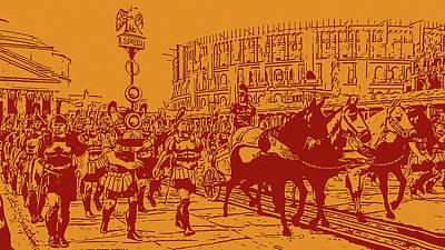 Digital Art - Ancient Rome - Triumph by Andrea Mazzocchetti