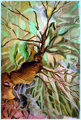 Tree Roots Mixed Media - Ancient Roots by Mindy Newman