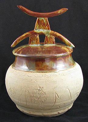 Ceramic Art - Ancient Ruines Pot by Judy  Hensley