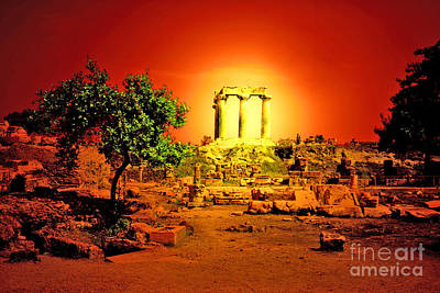 Ancient Greek Ruins Photograph - Ancient Ruins by Madeline Ellis