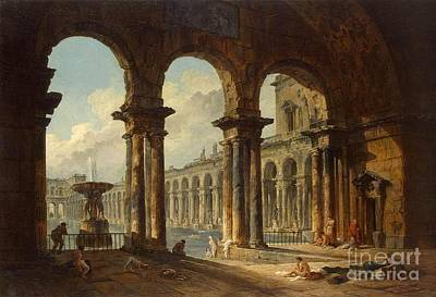 Ancient Ruins Used As Public Baths Art Print by MotionAge Designs