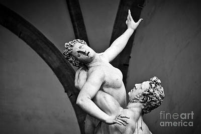 Rape Photograph - Ancient Sculpture Of The Rape Of The Sabine Women. Florence, Italy by Michal Bednarek