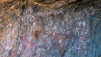 Photograph - Ancient Shoshones Pictograph Toquima Cave Nevada 2 by Lawrence S Richardson Jr