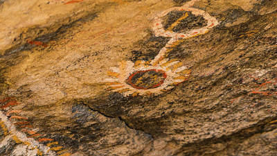Photograph - Ancient Shoshones Pictograph Toquima Cave Nevada by Lawrence S Richardson Jr