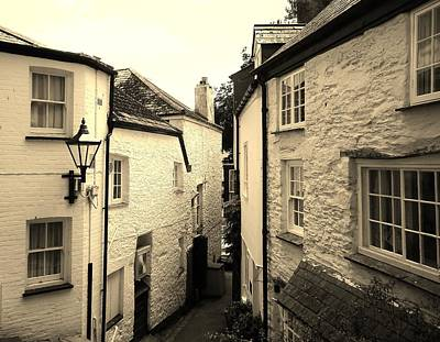 Photograph - Ancient Side Street Fowey Cornwall by Richard Brookes