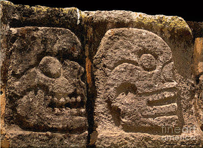 Photograph - Ancient Skulls by Susan Vineyard