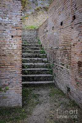 Rome Photograph - Ancient Stairs Rome Italy by Edward Fielding