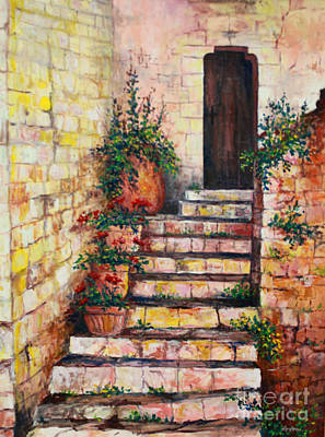 Painting - Ancient Stairway by Lou Ann Bagnall