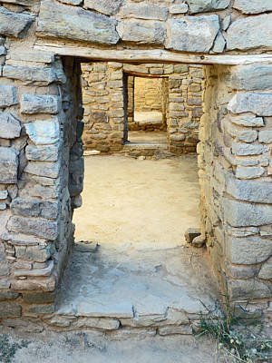 Photograph - Ancient Stone Doorways Of Aztec Ruins, Nm by Elizabeth Rose