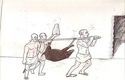 Ancient Sumer Sacrifice Art Print