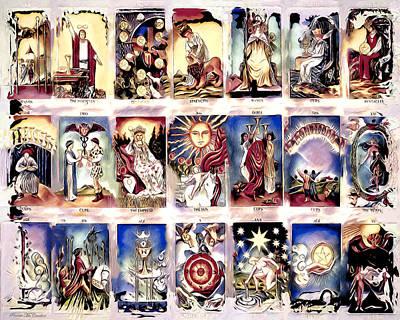 Digital Art - Ancient Tarot by Pennie McCracken