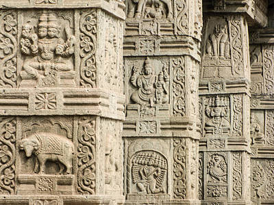 Asian Photograph - Ancient Temple Carvings by Nila Newsom
