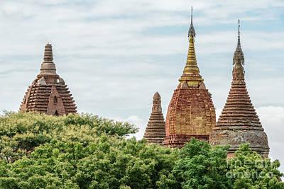 Photograph - Ancient Temples Of Bagan 1 by Werner Padarin