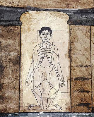 Mixed Media - Ancient Thai Art Mural by Helissa Grundemann