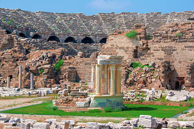 Photograph - Ancient Theatre Of Side by Sun Travels