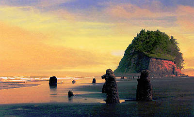 Ancient Trees At Neskowin Beach Art Print