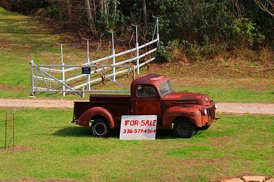Photograph - Ancient Truck For Sale by Kathryn Meyer