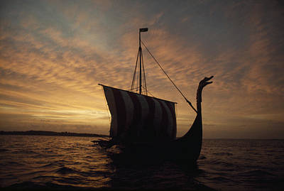 Cosmic And Atmospheric Phenomena Photograph - Ancient Vikings Sailed In Vessels Much by Ted Spiegel