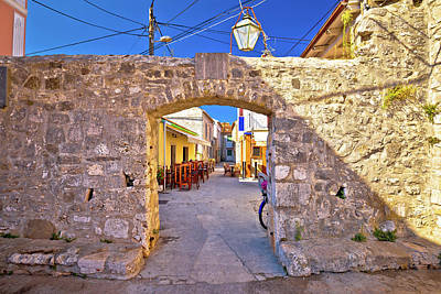 Photograph - Ancient Village Of Sukosan Near Zadar Stone Street And Arch Gate by Brch Photography