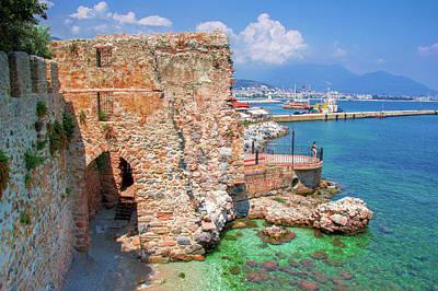 Photograph - Ancient Wall At The Harbor Of Alanya by Sun Travels