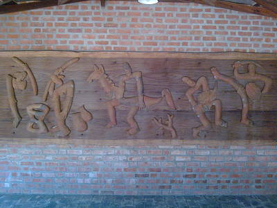 Ancient Wall Carving Print by Joni Mazumder