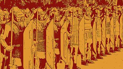 Digital Art - Ancient Warfare - Roman Hastati by Andrea Mazzocchetti