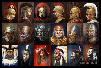 Spartan Painting - Ancient Warriors by Arturas Slapsys