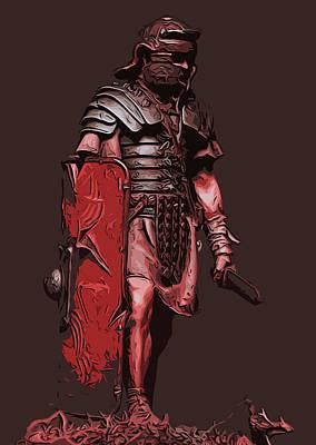 Painting - Ancient Warriors - Roman Legionary  by Andrea Mazzocchetti