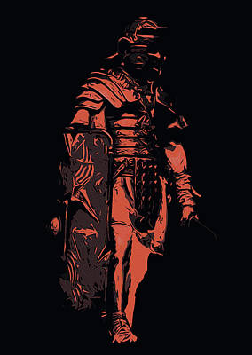 Painting - Ancient Warriors - Roman Soldier by Andrea Mazzocchetti