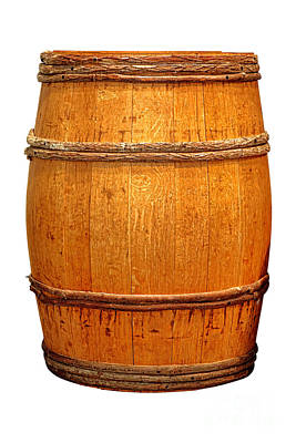 Wine Barrel Photograph - Ancient Whisky Barrel by Olivier Le Queinec