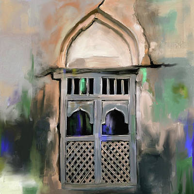 Painting - Ancient Window 677 1 by Mawra Tahreem